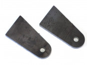 Pair of weld-on front shock absorber damper mounting brackets