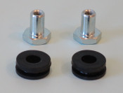 Special nuts + rubber grommets set to mount rear light unit for Lambretta GP DL + Electronic 1971