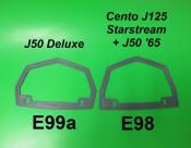 Rear light support gasket J100 J125 + J50 '65