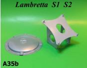 Portaruota posteriore orizzontale con coperchio Lambretta S1 TV1 S2 TV2