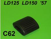 Kickstart rubber bump - flat type - Lambretta LD125 + LD150 '57