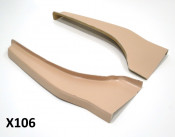 Pair of lightweight fibreglass rear runner footboards for Lambretta S3