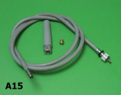 Complete speedo cable S3 (larger type inner cable head)