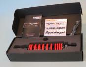 Ammortizzatore posteriore BGM (nero + arancio) per Lambretta S1 + S2 + S3 + GP DL + Serveta + Lui