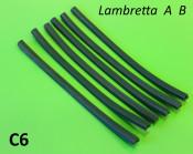 6 x green floorboard rubber runner inserts set Lambretta A125