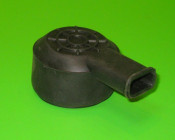 Raised 'spider-web' design rear junction box rubber cover