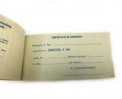 Italian dealer free service coupons Lambretta S1 150cc