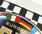 Universal mudflap Biemme EU Black/White - NOS