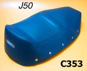 Copertina sella lunga, blu, per Lambretta J50 (modelli '66 - '67)