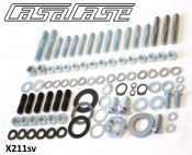 Complete set of fasteners + hardware for completing partially assembled CasaCase engine X211rp