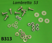Complete 32 piece dual seat fixing kit (washers + 14mm head bolts + nuts + spacers)