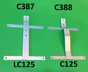 Rear number plate support bracket for Lambretta C125