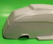 Fibreglass one-piece rear bodywork section for Lambretta S3