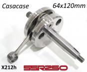 Race quality 64mm x 120mm crankshaft for CasaCase engine casing (+ SSR250)
