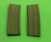 Pair of green rubber petrol tank spacers for Lambretta A
