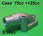 Inlet manifold for 16mm - 19mm carburettors Casa 75cc (+125cc)  Lambretta J50 - 75cc J100c  J125cc