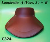 Brown front seat cover lambretta A (Vers.3) + B