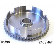 High quality Italian made 46T clutch crownwheel sprocket bell