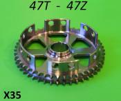 Lightened 47T clutch sprocket Lambretta S1 + S2 + S3 + GP DL + Serveta