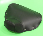 REAR black single seat cover (with closed front section) for Lambretta LD '57