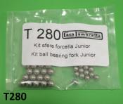 Set of upper + lower ball bearings for front forks / steering for Lambretta J