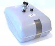Long distance fibreglass petrol tank for Lambretta (flywheel side carb recess)
