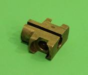 Brass throttle slider for inside handlebars (NOS Innocenti)