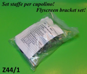 Complete flyscreen bracket mounting set (example : for screen CP6)