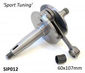SIP crankshaft large cone GP / DL 'Sport Tuning' version 60mm stroke / 107mm conrod
