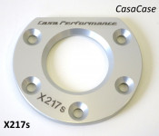 Rear hub bearing retaining plate (anodised SILVER) for CasaCase engine casing