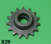 15T front drive sprocket for Lambretta J + Lui models (for up-gearing when tuning)