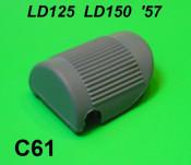 Protezione pedale avviamento, tipo curvo, per Lambretta LD125 + LD150 '57