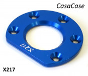 Rear hub bearing retaining plate (anodised BLUE) for CasaCase engine casing