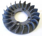 Plastic bolt-on flywheel fan for Casatronic ignitions