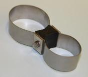 Speedo support clamp for steering column Lambretta D