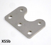 Stainless steel fixing plate for attaching quick-release type silencer to expansion exhaust
