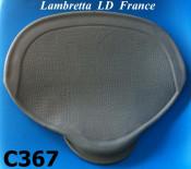 Copertina sella singola, in gomma grigia, per Lambretta LD mercato francese