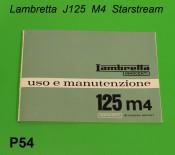 Owners manual Lambretta J125 M4 Starstream