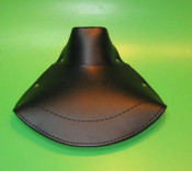 Black single seat cover Lambrettino 48