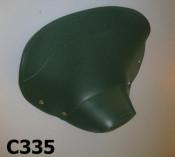 Copertina sella anteriore con frontale chiuso, verde, per Lambretta LD150 '54 -'56
