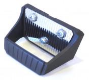 Rear grab handle (+ chrome plate + screws) for Lambretta J50 Special