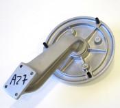 Upright rear wheel carrier accessory for Lambretta Model D125 + D150