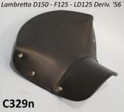 BLACK single saddle seat cover (NON original) for Lambretta LD125 '56 (Deriv.) + D150 + F125