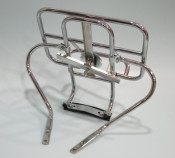 Upright rear carrier + spare wheel holder (standard / budget model) Lambretta S3