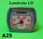 Rectangular type speedo Lambretta LD