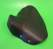 Black front single seat cover - Closed Type - Lambretta LD125/150 '57