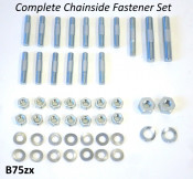 RLC complete studs + nuts + washers  zinc plated  set for engine side cover Lambretta S1 + S2 + S3 + GP