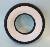 """Continental 4.00 x 8"""" white wall tyre (vintage tread pattern) for Lambretta D + LD"""