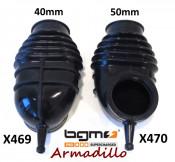"""BGM rubber manifold """"Armadillo"""". Diam. 40mm for Lambretta S1 + S2 + TV2 + S3 + TV3 + Special + SX + DL + Serveta"""