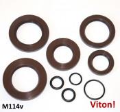 Complete Casa Lambretta engine + crankshaft oilseal set in VITON